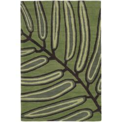 Hand-Tufted .75-Inch Floral Mandara New Zealand Wool Rug (5' x 7'6)