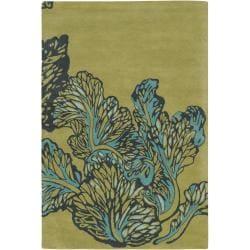 Hand-tufted Mandara New Zealand Wool Floral Rug (7'9 x 10'6)