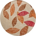 Hand-tufted Mandara Floral New Zealand Wool Rug (7'9 Round)