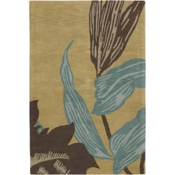 "Contemporary Hand-Tufted Hiroshi New Zealand Wool Rug (5' x 7'6"")"