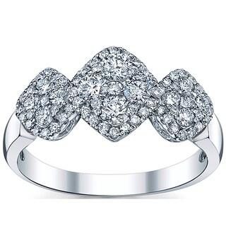 18k White Gold 7/8ct TDW Round Diamond Engagement Ring (G-H, SI1-SI2)