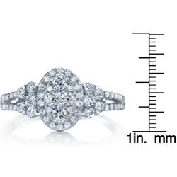 18k White Gold 7/8ct TDW Diamond Engagement Ring (G-H, SI1-SI2)