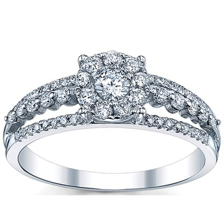 18k White Gold 5/8ct TDW Diamond Engagement Ring (G-H, SI1-SI2)