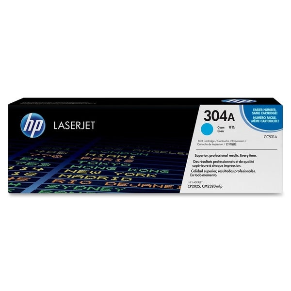 HP 304A (CC531AG) Cyan Original LaserJet Toner Cartridge for US Gover