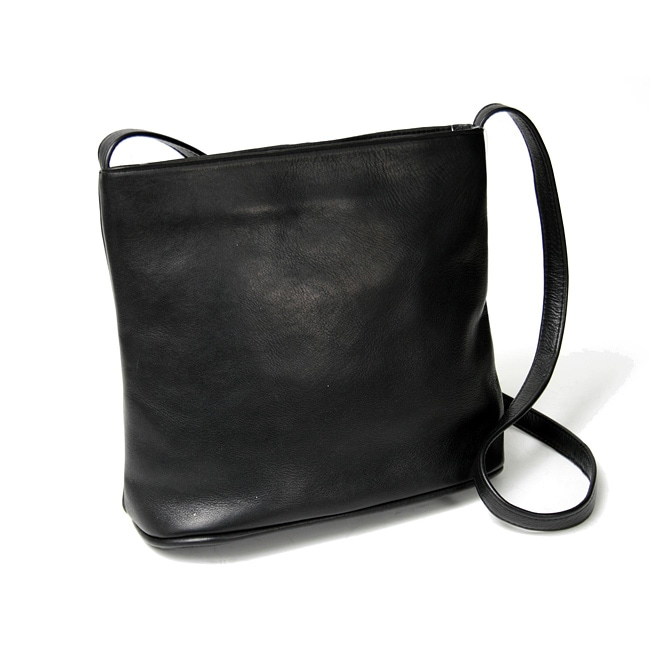 Royce Women's Hand-crafted Black Vaquetta Leather Shoulder Bag