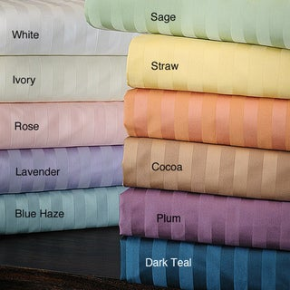 Delray Sateen 600 Thread Count Striped 6-piece Sheet Set