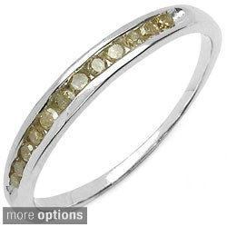 Malaika Sterling Silver 1/5ct TDW Colored Diamond Ring