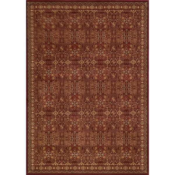 Preston Red Agra Rug (5'3 x 7'6)