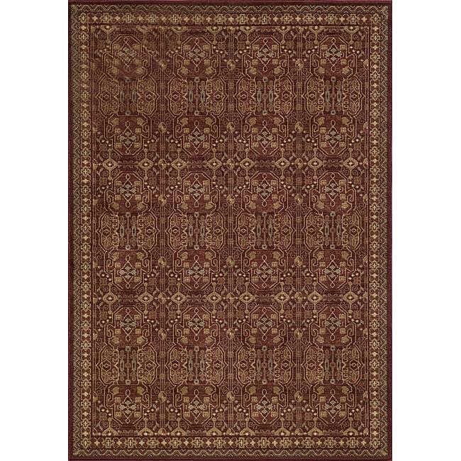 Preston Red Agra Rug (7'10 x 9'10)