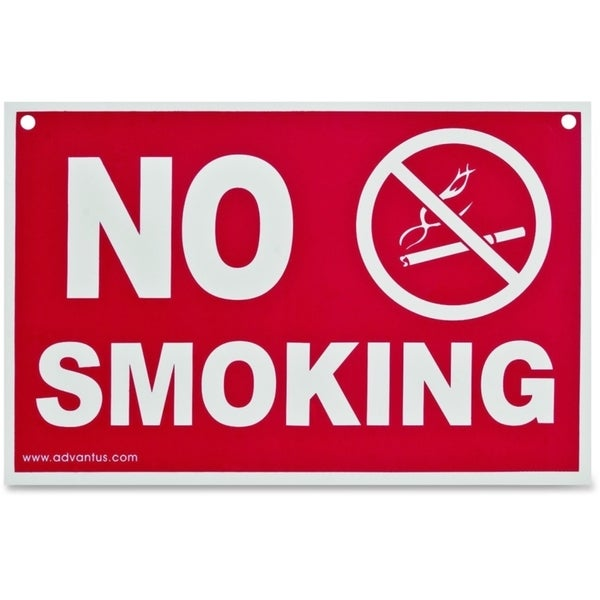 Advantus Economy No Smoking Wall Sign- Plastic-