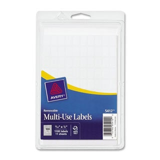 White Avery Removable Multi-use Labels 5/16 x 1/2-
