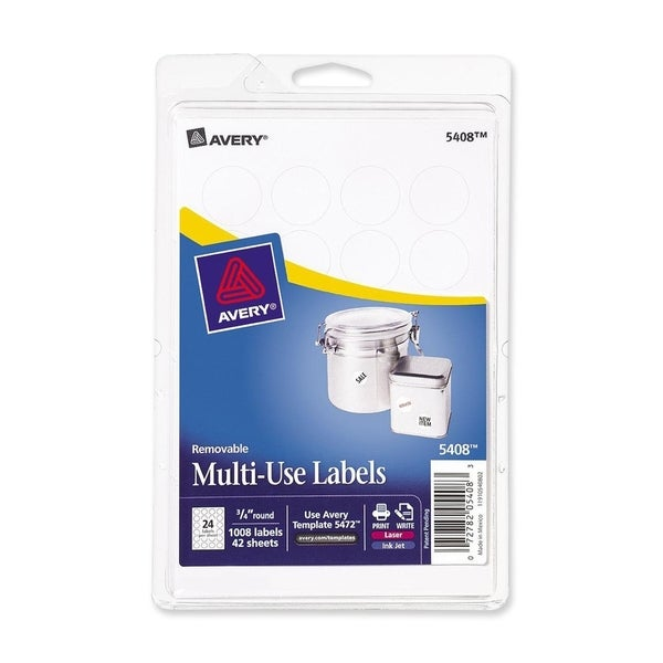 Avery Print or Write White Removable Multi-use Labels