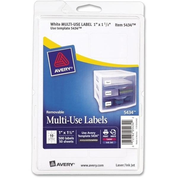 Avery Print/ Write Removable Multi-use Labels