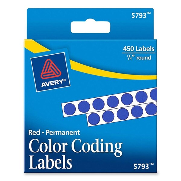 Blue Avery Permanent Self-Adhesive Color-coding