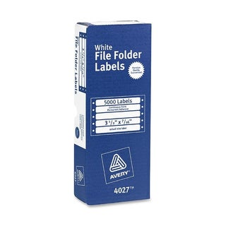 Avery Dot Matrix File Folder Labels- 3-1/2 x