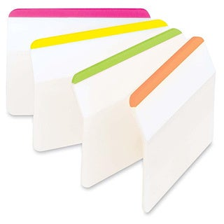 Assorted Post-it Durable Hanging File Tabs- 2 x 1 1/2-