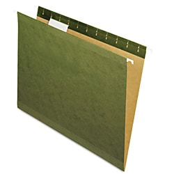 Smead Pendaflex 1/5-Tab Standard Green Reinforced Hanging File Folders (Pack of 25)