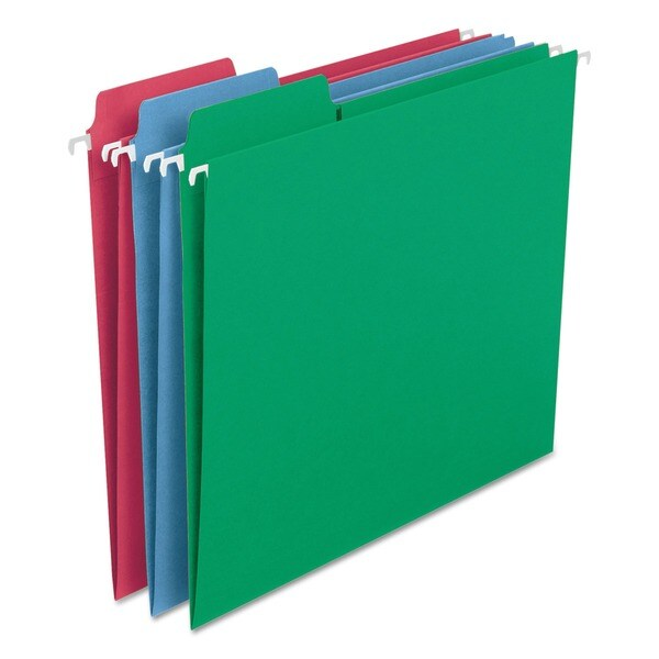 Smead FasTab Assorted Primary Hanging File Folders (Pack of 18)