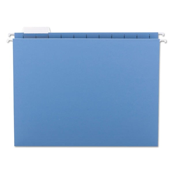 Smead 1/5 Tab Blue Hanging File Folders (Pack of 25)
