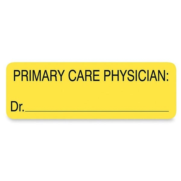 Yellow Tabbies Labels for Primary Care Physician- 3 x