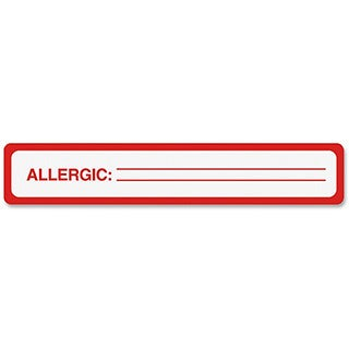 Tabbies Medical Labels for Allergy Warnings