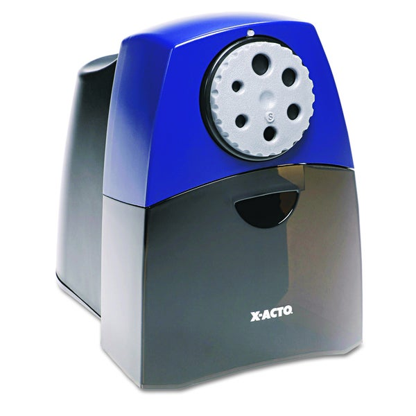Black W/ Blue X-ACTO Teacher Pro Electric Pencil Sharpener-