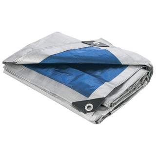 Maxam 12 X 16 All Purpose Grey/Blue Tarp