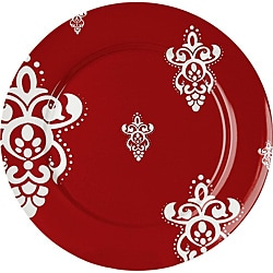 Waechtersbach Red Salad Plates Rocaille (Set of 4)