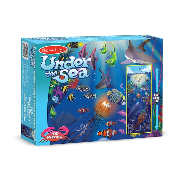 Melissa & Doug Under the Sea 100-piece Floor Puzzle
