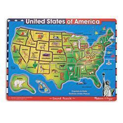 Melissa & Doug U.S.A. Map Sound Puzzle