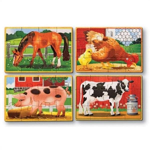 Melissa & Doug Farm Animals Puzzles in a Box 7997316