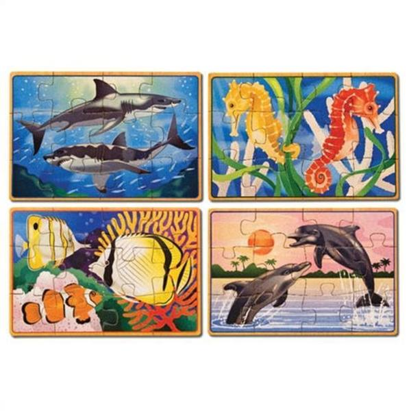 Melissa & Doug Sea Life Puzzles in a Box 7997318