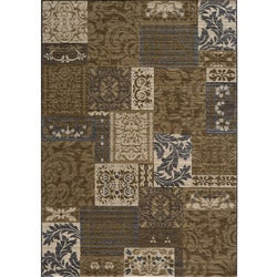 Dream Blue Geometric Rug (7'10 x 9'10)