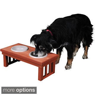 Eco-Friendly Wood/Plastic Raised Pet Feeder
