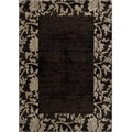 Dream Charcoal Border Rug (5'3 x 7'6)