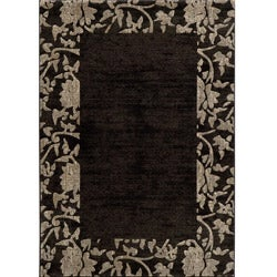 Dream Charcoal Border Rug (7'10 x 9'10)