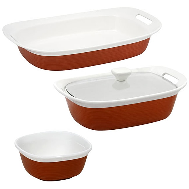 CorningWare Etch 4 piece set in Brick