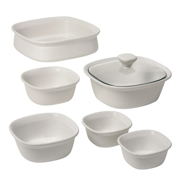 CorningWare Etch 7-piece White Bakeware Set