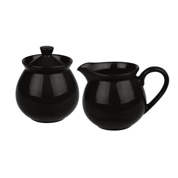 Waechtersbach Fun Factory Black Creamer and Sugar Set