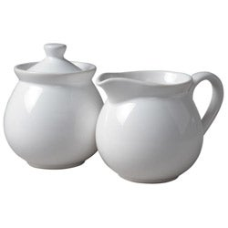 Waechtersbach Fun Factory II White Creamer and Sugar Set