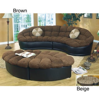 Papasan Two-piece Sectional Sofa