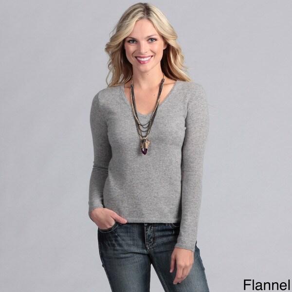 Oliver & James Women's Cashmere V-neck Sweater
