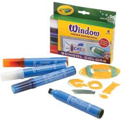 Crayola Washable School Colors Window Mega Markers (Pack of 4)