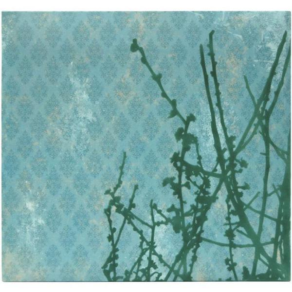 Flocked 12x12-inch Turquoise Branches Album