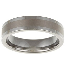 Men's Tungsten Satin Stripe Band (6 mm)