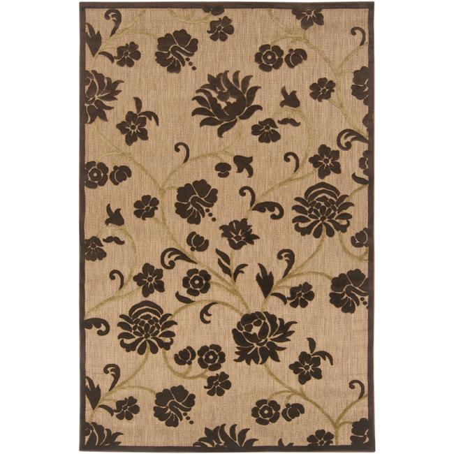 Woven Brighton Natural Indoor/Outdoor Floral Rug (8'8 x 12')