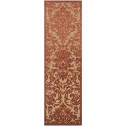 Woven Roxbury Indoor/Outdoor Damask Print Rug (2'6 x 7'10)