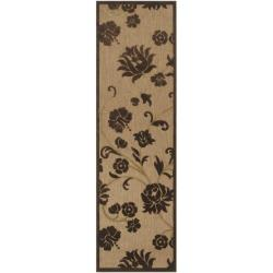 Woven Brighton Natural Indoor/Outdoor Floral Rug (2'6 x 7'10)