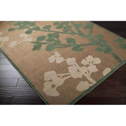 Woven Beacon Indoor/Outdoor Floral Rug (3'9 x 5'8)