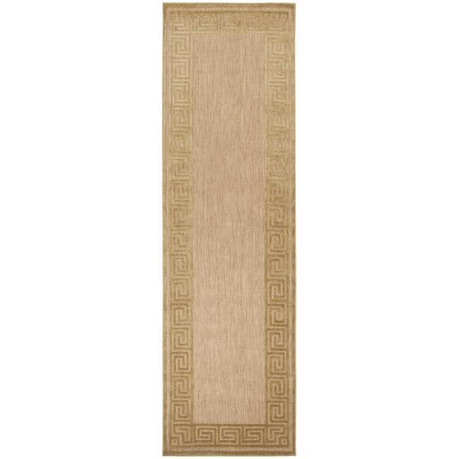 Woven Charlestown Indoor/Outdoor Geo Border Rug (2'6 x 7'10)